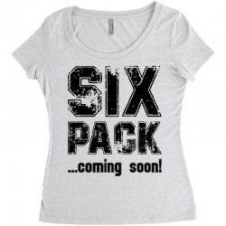 six pack coming soon Women's Triblend Scoop T-shirt | Artistshot