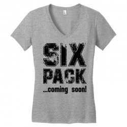 six pack coming soon Women's V-Neck T-Shirt | Artistshot