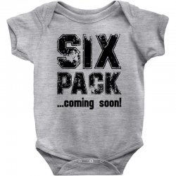 six pack coming soon Baby Bodysuit | Artistshot