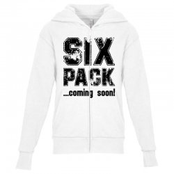 six pack coming soon Youth Zipper Hoodie | Artistshot