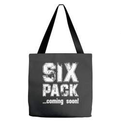 six pack coming soon for dark Tote Bags | Artistshot