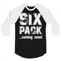 six pack coming soon for dark 3/4 Sleeve Shirt | Artistshot