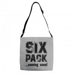 six pack coming soon Adjustable Strap Totes | Artistshot