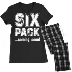 six pack coming soon for dark Women's Pajamas Set | Artistshot