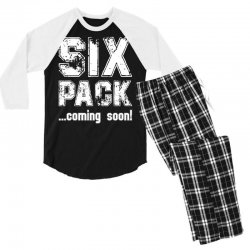 six pack coming soon for dark Men's 3/4 Sleeve Pajama Set | Artistshot