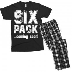 six pack coming soon for dark Men's T-shirt Pajama Set | Artistshot