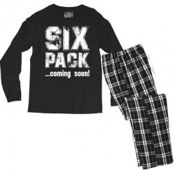 six pack coming soon for dark Men's Long Sleeve Pajama Set | Artistshot