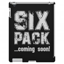 six pack coming soon for dark iPad 3 and 4 Case   Artistshot