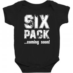 six pack coming soon for dark Baby Bodysuit | Artistshot