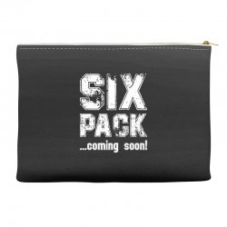 six pack coming soon for dark Accessory Pouches | Artistshot