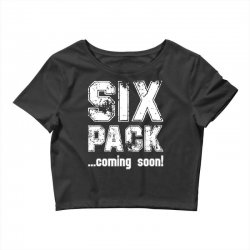 six pack coming soon for dark Crop Top | Artistshot