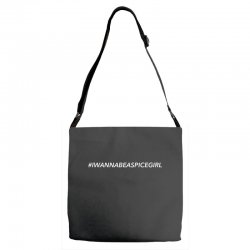 i wanna be a spice girl for dark Adjustable Strap Totes | Artistshot
