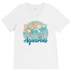 aquarius V-Neck Tee | Artistshot