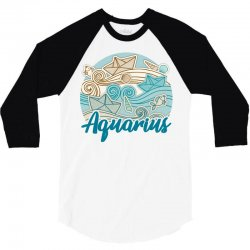 aquarius 3/4 Sleeve Shirt | Artistshot
