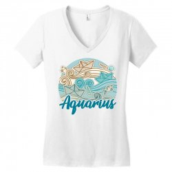 aquarius Women's V-Neck T-Shirt | Artistshot