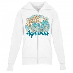 aquarius Youth Zipper Hoodie | Artistshot