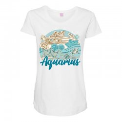 aquarius Maternity Scoop Neck T-shirt | Artistshot