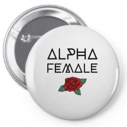 alpha female for light Pin-back button | Artistshot
