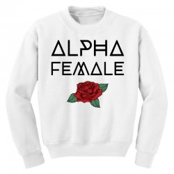 alpha female for light Youth Sweatshirt | Artistshot