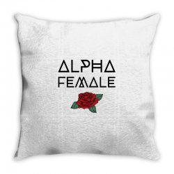 alpha female for light Throw Pillow | Artistshot