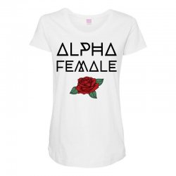 alpha female for light Maternity Scoop Neck T-shirt | Artistshot