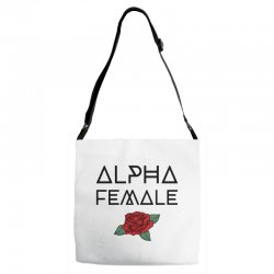 alpha female for light Adjustable Strap Totes | Artistshot