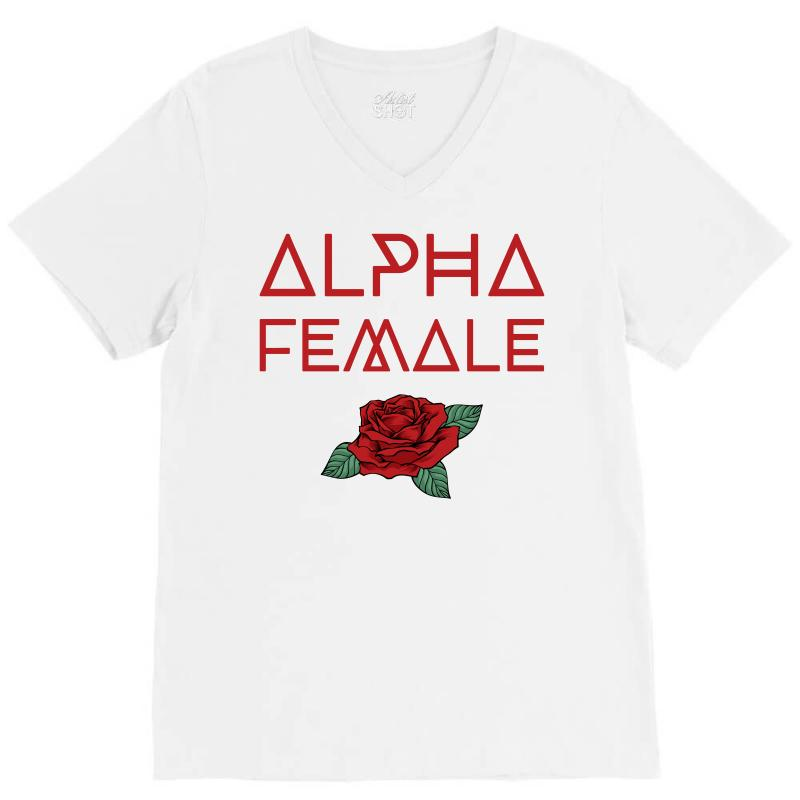 Alpha Female For Dark V-neck Tee | Artistshot