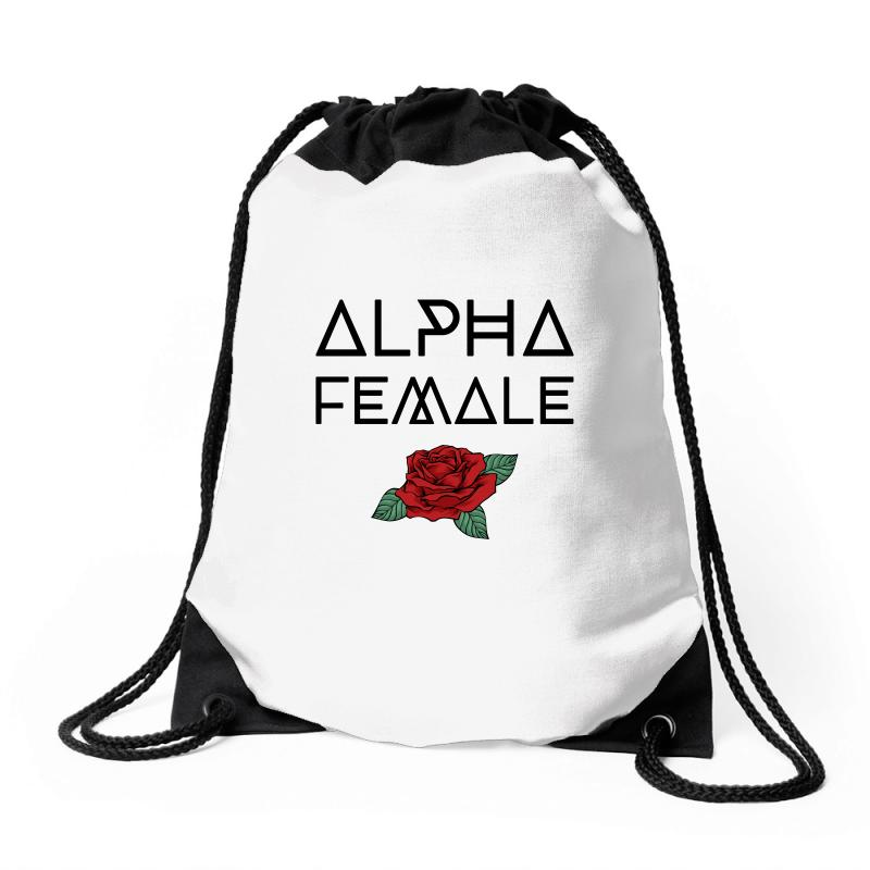 Alpha Female For Light Drawstring Bags | Artistshot