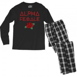 alpha female for dark Men's Long Sleeve Pajama Set | Artistshot