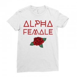 alpha female for dark Ladies Fitted T-Shirt | Artistshot