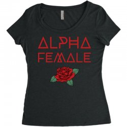 alpha female for dark Women's Triblend Scoop T-shirt | Artistshot