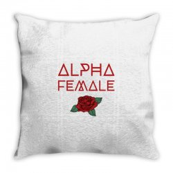 alpha female for dark Throw Pillow | Artistshot