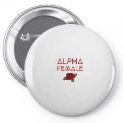 alpha female for dark Pin-back button | Artistshot
