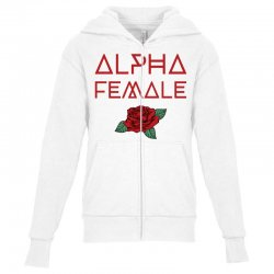 alpha female for dark Youth Zipper Hoodie | Artistshot