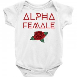 alpha female for dark Baby Bodysuit | Artistshot