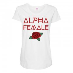 alpha female for dark Maternity Scoop Neck T-shirt | Artistshot