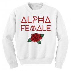 alpha female for dark Youth Sweatshirt | Artistshot