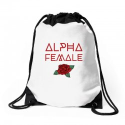 alpha female for dark Drawstring Bags | Artistshot