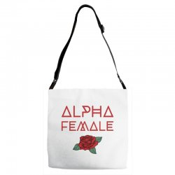 alpha female for dark Adjustable Strap Totes | Artistshot