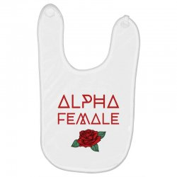 alpha female for dark Baby Bibs | Artistshot