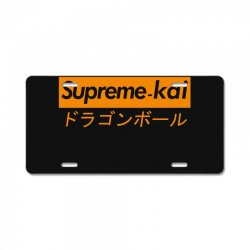 supreme kai dragonball License Plate | Artistshot