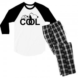 cool snoopy Men's 3/4 Sleeve Pajama Set | Artistshot