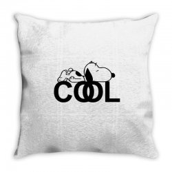 cool snoopy Throw Pillow | Artistshot