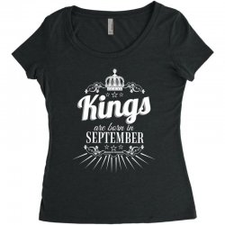 kings are born in september Women's Triblend Scoop T-shirt | Artistshot