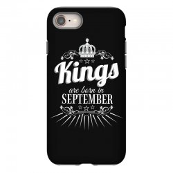 kings are born in september iPhone 8 Case | Artistshot