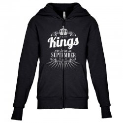 kings are born in september Youth Zipper Hoodie | Artistshot
