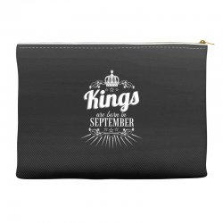 kings are born in september Accessory Pouches | Artistshot