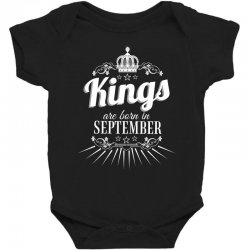 kings are born in september Baby Bodysuit | Artistshot