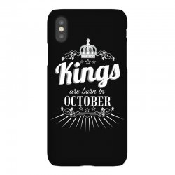 kings are born in october iPhoneX Case | Artistshot