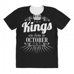 kings are born in october All Over Women's T-shirt | Artistshot